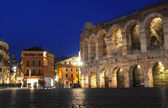 The roman arena of Verona on Italy — Stock Photo