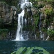 Stock Photo: View on cascade du bassin Cormoran waterfall,Reunion island, Indian ocean