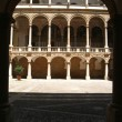 Sight of the internal courtyard The Normans&#039;l Palace in Palermo, Sicily. - Stock Photo