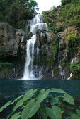 View on cascade du bassin Cormoran waterfall,Reunion island, Indian ocean — Stock Photo
