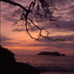 Sunset on the beach in Manuel Antonio, Costa Rica — Stock Photo #22743321