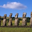 Royalty-Free Stock Photo: The beautiful Moai statues of Easter Island in the South Pacific