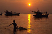 The Mekong River Delta, An Giang province, Vietnam — Stock Photo