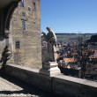 Panorama aerial view of Cesky Krumlov,  Czech republic - Stock Photo