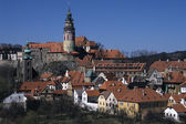 Panorama aerial view of Cesky Krumlov, Czech republic — Stock Photo