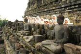 In archaeological site of Borobudur, UNESCO World Heritage — Stock Photo