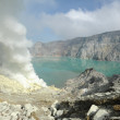 Sulphatic lake in a crater of volcano Ijen. Java. Indonesia — Stock Photo