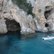 The Grotto of Cormorani on the island of Sardinia, Italy — Foto Stock