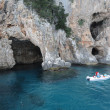 The Grotto of Cormorani on the island of Sardinia, Italy — 图库照片
