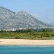 The beach of the village of Marina di Orosei on the island of Sardinia, Italy — Stock Photo