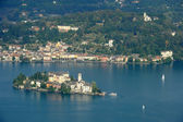 San Giulio isle — Stock Photo