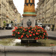 Fountain on a alley of Bern, Switzerland — Stock Photo