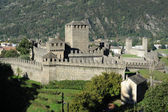 The Castles of Montebello and Castelgrande — Stock Photo