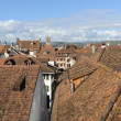 Rooftops and tower of Murten in Fribourg — Stock Photo