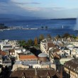 Geneva and lake Leman on Switzerland — Stock Photo