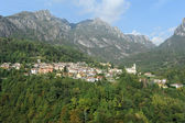 The villages of Puria and Dasio on Valsolda, Italy — Stock Photo