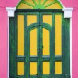 Colorfull front door at Suchitoto — Stock Photo