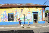 Mural on a house at Ataco in El Salvador — Stock Photo