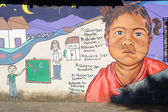 Mural on a house at Ataco in El Salvador — Foto de Stock