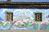 Mural on a house at Ataco in El Salvador — Foto Stock
