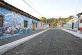 Mural on a house at Ataco in El Salvador — Stock fotografie