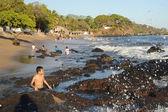 The beach of Los Cobanos — Stock Photo