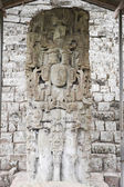 Statue in Mayan ruins — Stock Photo