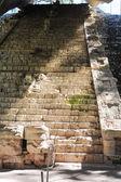 возрасте шаги в руины майя — Стоковое фото
