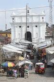 Market near the Church — Stock Photo