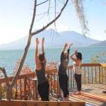 Girls practicing yoga — Stock Photo #44932703