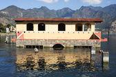 Flooded house at San Pedro on lake Atitlan — Stock Photo