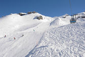 Ski slope and cableway of Engelberg — Stock Photo