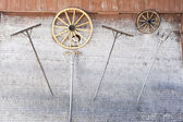 Tools on the wall of a farm at Engelberg — ストック写真