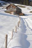 Winter landscape of Engelberg — Stock Photo