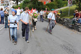 Transhumance at Engelberg on the Swiss alps — Stock Photo