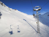 Sci slope and cableway of Engelberg — Stock Photo