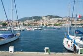 The harbor at Ajaccio — Stock Photo