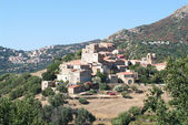 Villages of Pigna and Corbara — Stock Photo