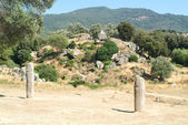Menhir statues in  Filitosa — Stock Photo