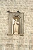 Sculpture at the main door of the citadel of Dubrovnik  — Stock Photo