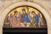 Artwork of Trinity church on the citadel of Budva — Photo