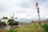Telecommunication antennas of Berat — ストック写真