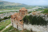 The orthodox church of holy Trinity at Kala fortless over Berat — Stock Photo