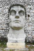 Sculture on the citadel of Kala at Berat — Foto de Stock