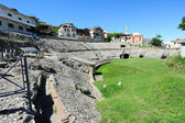 Roman Amphitheatre of Durres — Stock Photo