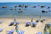 Chairs at the beach of Durres — Foto de Stock