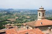 The view from Borgo Maggiore at San Marino — Foto de Stock