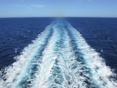 Waves of a cruisership — Stock Photo