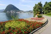 The bay of lake Lugano — Stock Photo