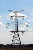 Electrical transmission tower — Stock Photo